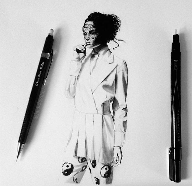 نقاشی های خارق العاده با مداد و مداد نوکی از جک دویل