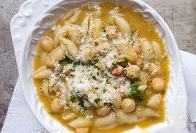 آموزش ویژه آشپزی سوپ پاستا همراه نخود