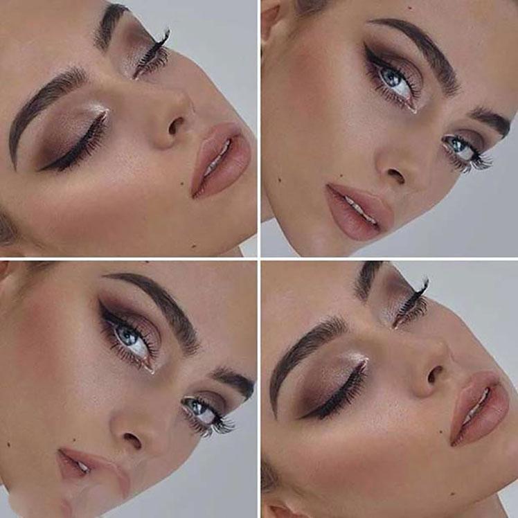 مدل های جدید و جذاب آرایش چشم بصورت طلایی