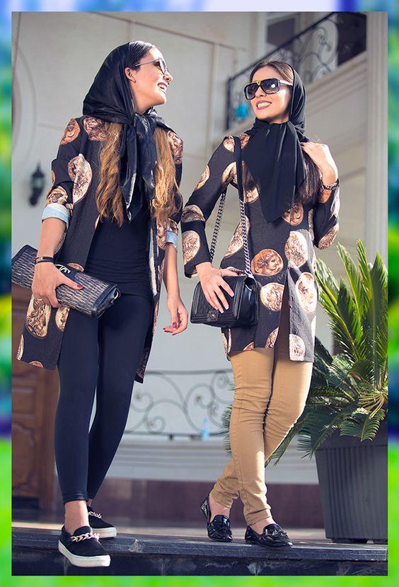 مدل های مانتو ایرانی با استایل های خیابانی