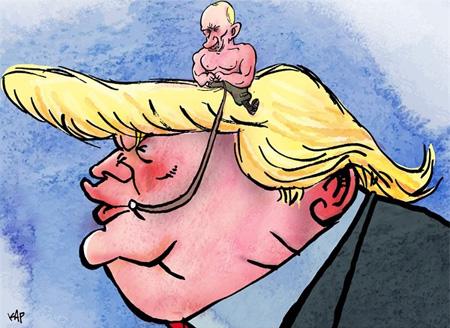 دونالد ترامپ آقای رئیس جمهور در قاب کاریکاتور