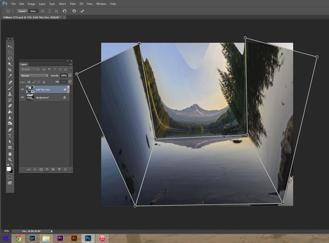 ترفند خم کردن عکس های یک صحنه در فتوشاپ