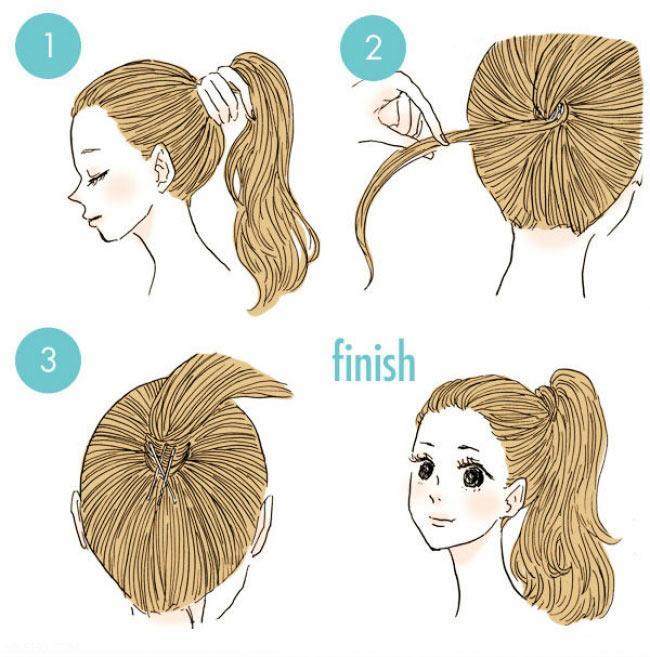 آموزش تصویری مدل موهای دم اسبی و بافت زیبا