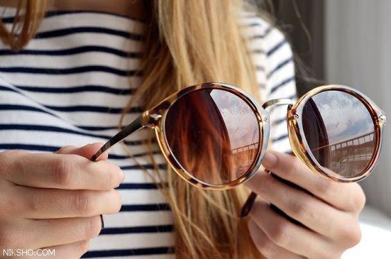 مدل های عینک زنانه فریم گرد شیک و زیبا