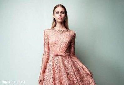 لباس مجلسی زنانه بلند و کوتاه گیپور برند Georges Hobeika
