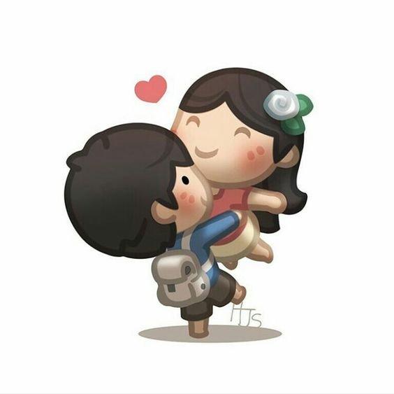 عکس های عاشقانه ی کارتونی دختر و پسر