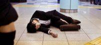 کاروشی مرگ به خاطر کار بیش از حد در مردم ژاپن