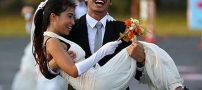 مسابقه دو جذاب بین عروس و دامادهای تایلندی