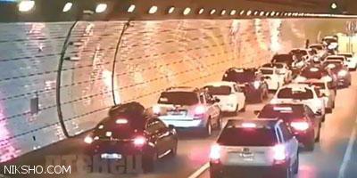 حرکت فوق العاده مردم چین هنگام تصادف شدید در تونل