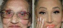 معجزه باورنکردنی آرایش روی چهره پیرزن ۸۰ ساله