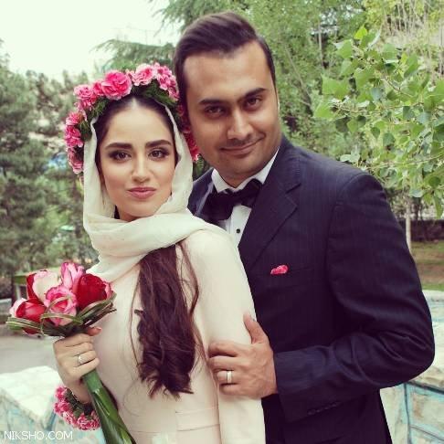لباس عروس هانیه غلامی بازیگر زیبا و جوان ایرانی +عکس