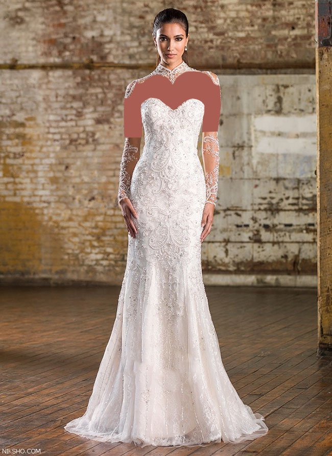 مدل لباس عروس گیپور زیبا و بسیار شیک 2019