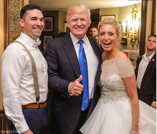 حضور دونالد ترامپ بصورت سرزده در یک مراسم عروسی