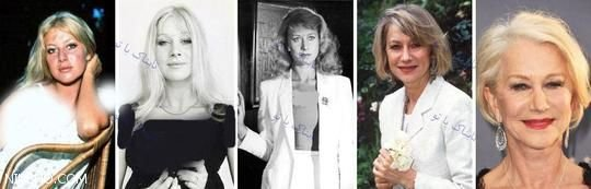تغییرات چهره ستاره های مشهور از جوانی تا بزرگسالی