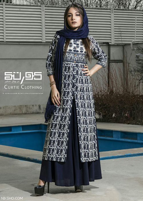 مدل مانتو سنتی و لباس زنانه سنتی از برند کورتی