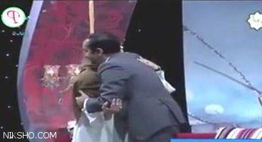 آغوش عاشقانه مجری زن و مرد شبکه یک روی آنتن زنده