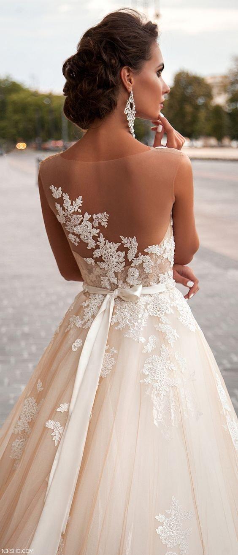 شیک ترین مدل لباس عروس گیپور و جذاب