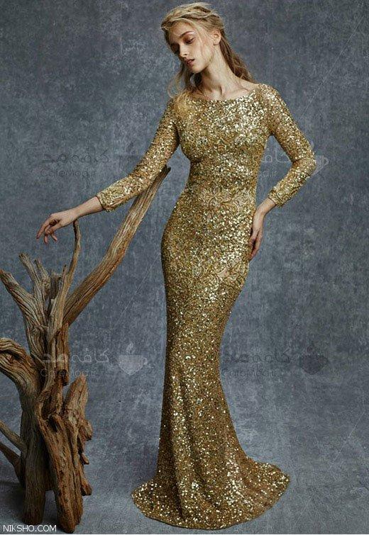 مدل جدید لباس مجلسی گیپور برند Reem Acra