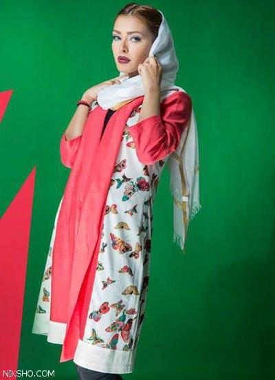 عکس مدل مانتو ایرانی تابستانی برند آیدا رحیمی