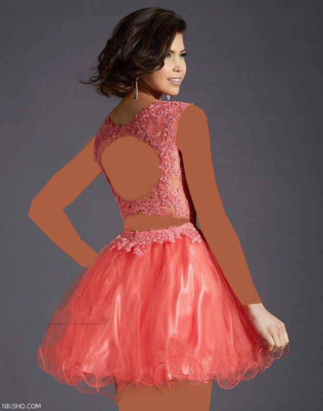 مدل لباس مجلسی کوتاه و بسیار جذاب برند Clarisse