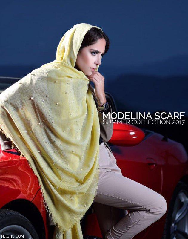 مدل شال و روسری ایرانی بسیار شیک از Modelina