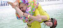 مسابقه جذاب و هیجانی حمل همسر +عکس