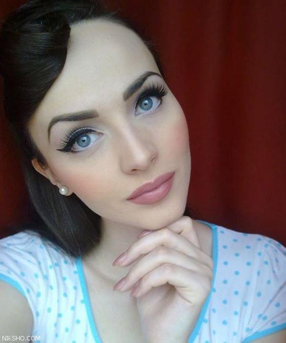مدل های جدید آرایش صورت ملایم مناسب بیرون
