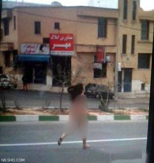 دختری در شیراز کاملا لخت به خیابان آمد +عکس