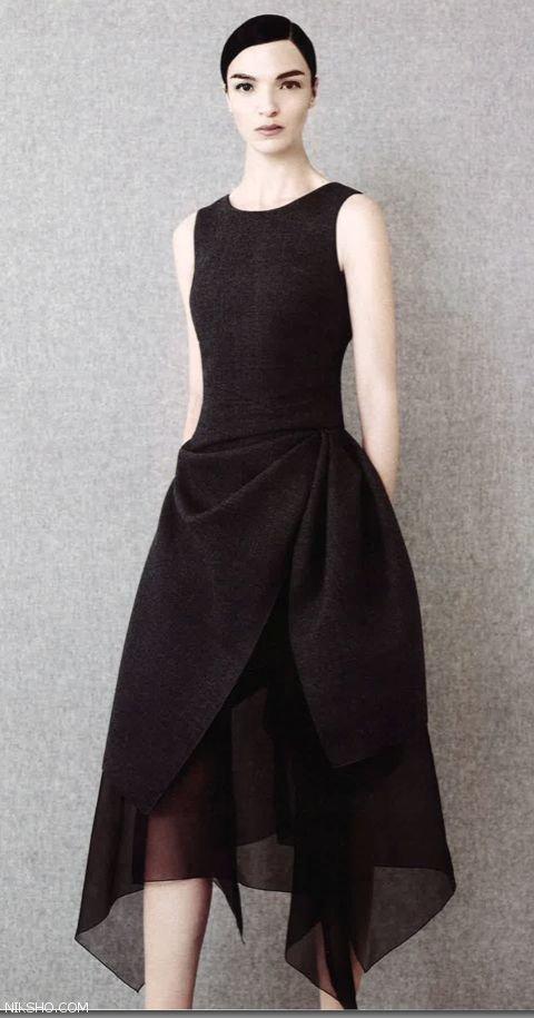 عکس لباس مجلسی با دامن بلند شیک و جدید 2017