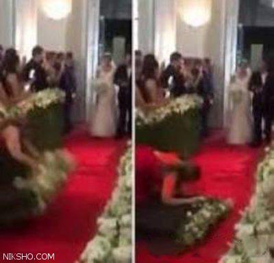 ضایع شدن خفن دختر جوان وسط عروسی +عکس