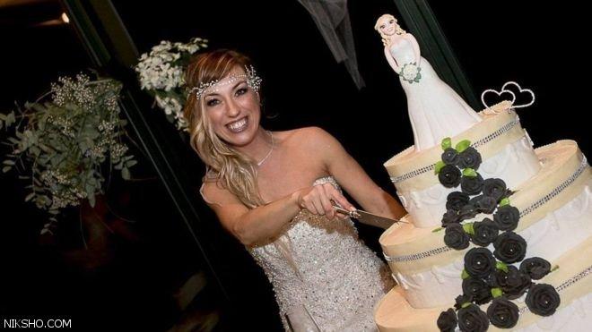 دختر زیبای ایتالیایی با خودش ازدواج کرد +عکس