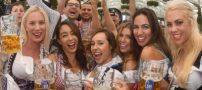 دختران و پسران در فستیوال آبجوخوری بیر در آلمان
