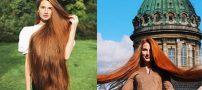 رشد بسیار زیاد موهای این دختر زیبا و خوش اندام روس