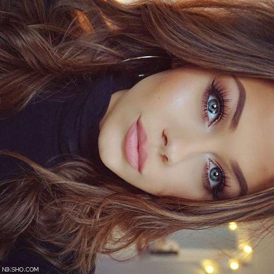 مدل آرایش و گریم صورت ساده اما داغ و جذاب