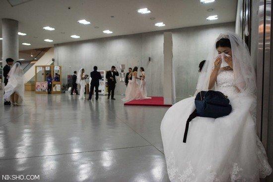 عروسی دسته جعمی دختران و پسران در کره جنوبی +عکس