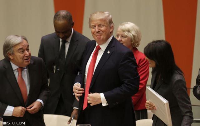 حاشیه های حضور ملانیا و دونالد ترامپ در سازمان ملل
