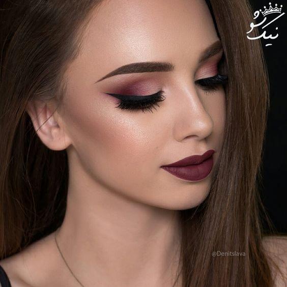 آرایش صورت برای خانم های جوان با چشم های قهوه ای