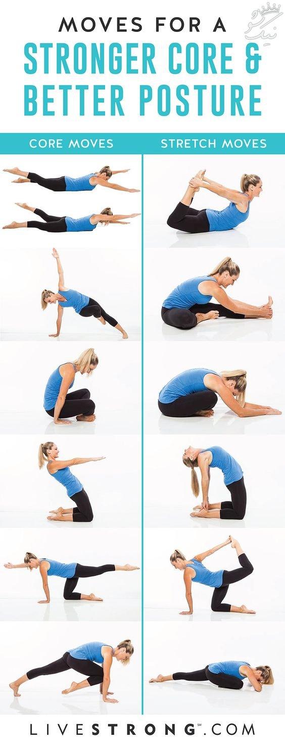 آموزش حرکات مفید در ورزش صبحگاهی عکس کامل ترین آموزش تصویری حرکات پیلاتس pilates