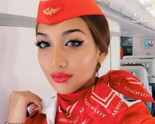 زن زیبای ایرانی در میان جذاب ترین مهماندارهای دنیا
