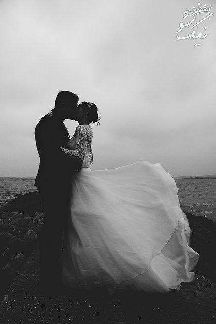 ایده های جذاب ژست عروس و داماد برای عکاسی