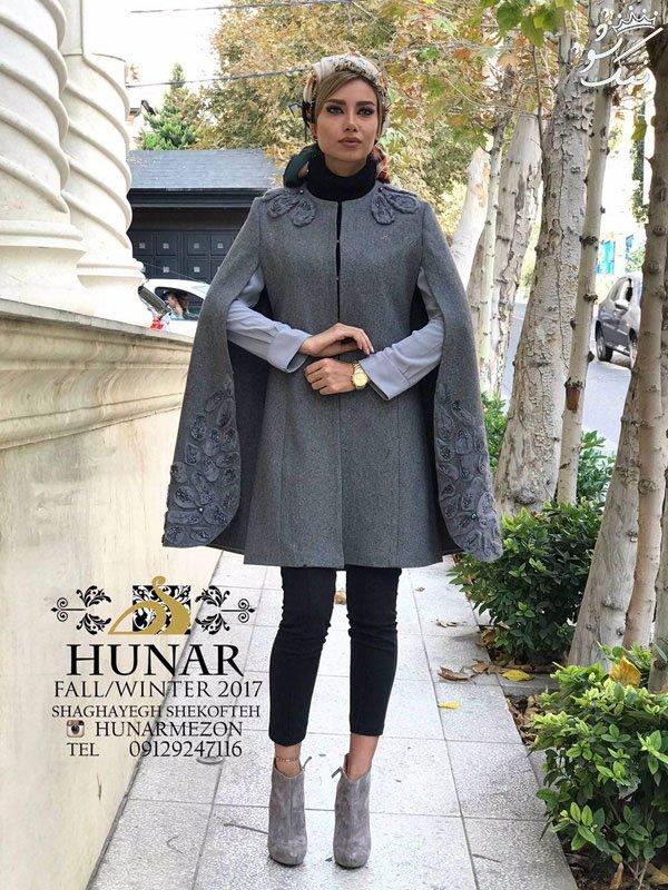 شیک ترین مدل مانتو پاییزی و زمستانی برند Hunar