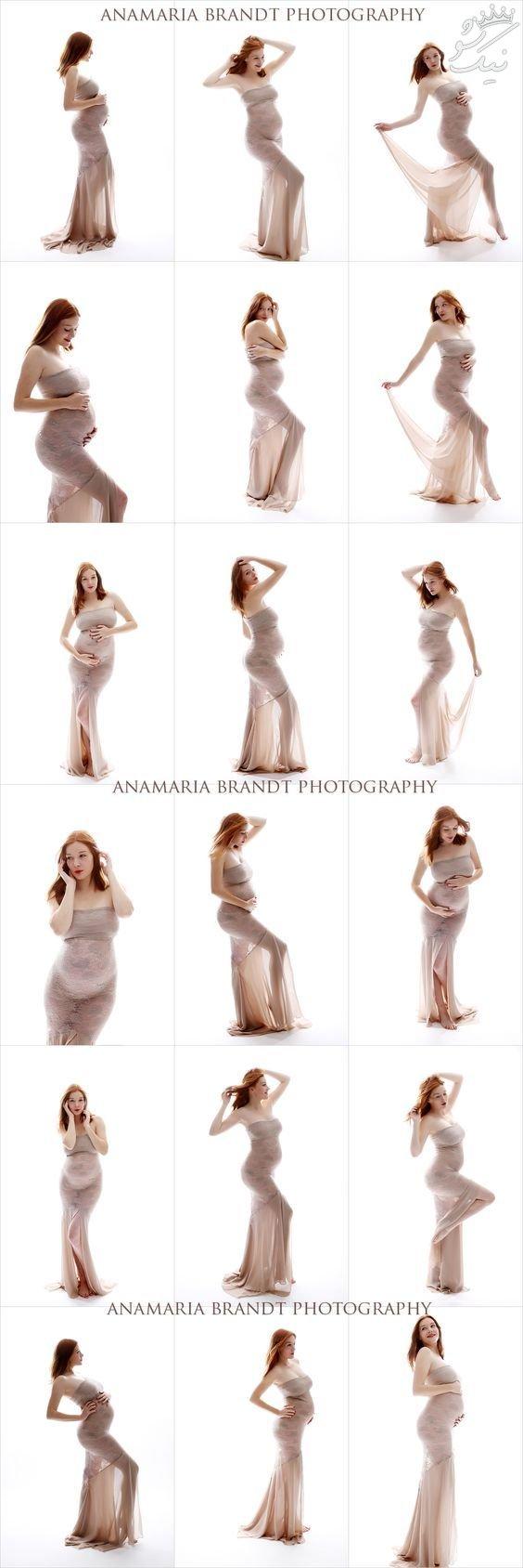 ژست عکاسی مادران دوران بارداری +عکس زنان باردار