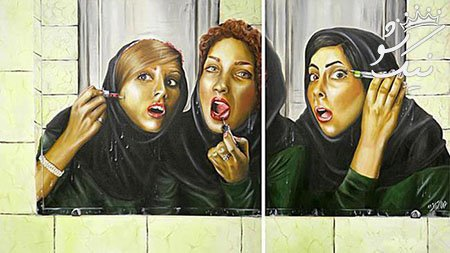 9dc5d95719ca6a5b7e67755ec632c5b6 niksho com - چرا دختران ایرانی آرایش بسیار غلیظ می کنند؟