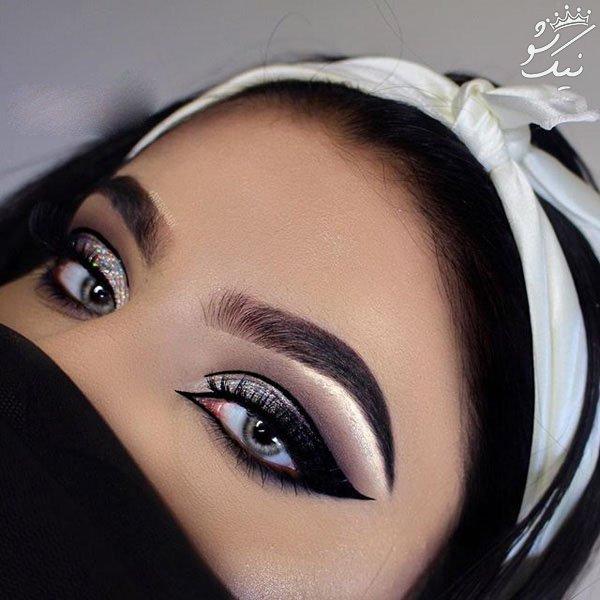 جذاب ترین مدل های آرایش چشم مجلسی خلیجی