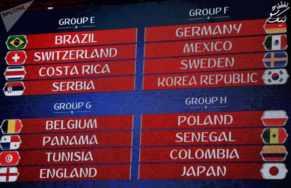 صحنه های پخش نشده قرعه کشی جام جهانی از تلویزیون