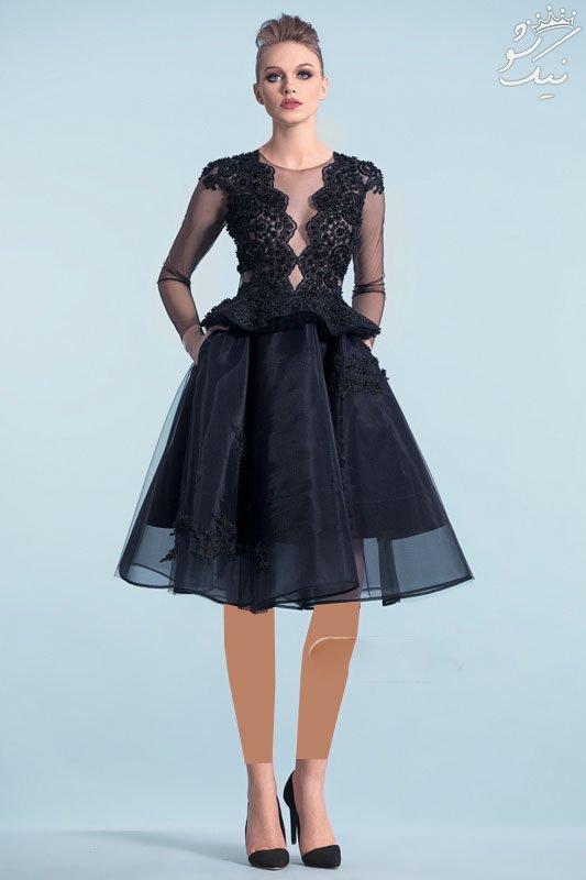 مدل لباس مجلسی بلند و کوتاه از برند Cristallini