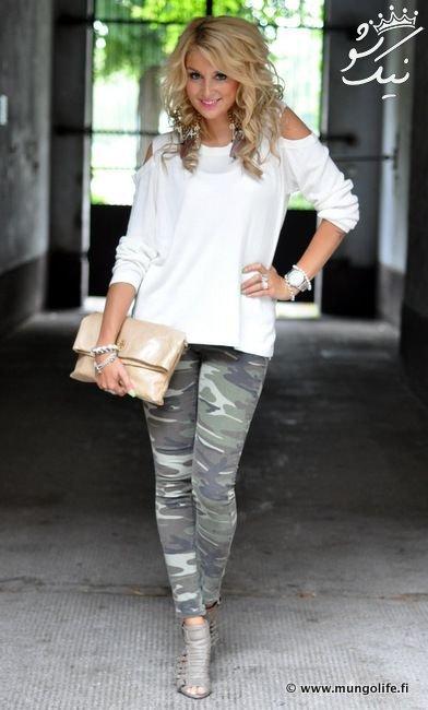 مدل شلوار ارتشی زنانه، لباس ارتشی دخترانه