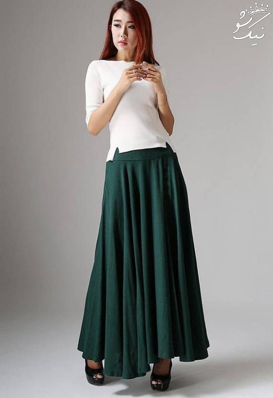 کالکشن مدل دامن بلند زنانه واقعا شیک و جذاب