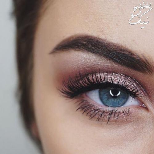 آرایش چشم به رنگ رزگلد جذاب و خواستنی و لاکچری