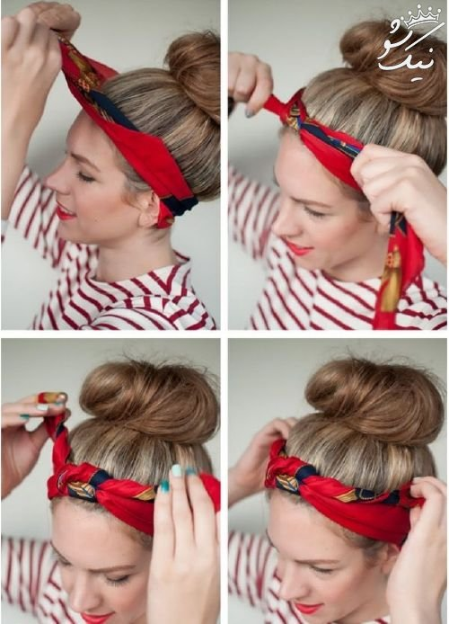 روش های بستن دستمال سر در بهار و تابستان